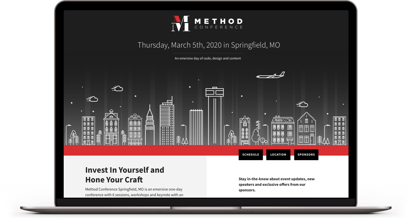 Method Conference Desktop Design